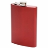 Maxam® 8oz Stainless Steel Flask  RED Finish