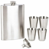 Maxam Flask Set Stainless Steel  6pc.