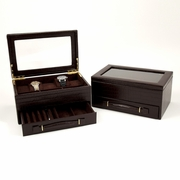 Men's Leather Jewelry, Watch, Pen, Eye Glass Case, Valet Box