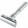 Merkur Futur Adjustable Double Edge Safety Razor With Snap Closure, Chrome