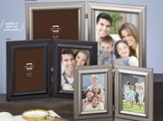 """Monroe Duos Hinged Metal Double Picture Frame 5"""" x 7"""""""