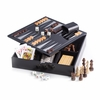 Multi Game Set Black Lacquered Wood