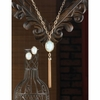Opalescent Tassel Jewelry Set