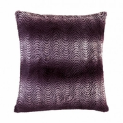 """Orchid Ombre Fur Throw Pillow 17.5""""Sq"""
