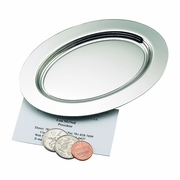 """Oval Plain Tray Nickle-Plated 6"""" long"""