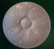 """HIC Porcelain Oyster Plate 9"""""""