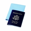 Passport Cover Baby  Blue Leatherette