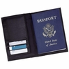 Passport Cover Plain Leather with Credit Card Slots