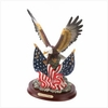 Patriotic Eagle with Flags Statue   FREE SHIPPING