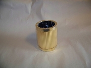 Pencil Cup  Gold Plated Brass