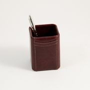 Pencil Holder, Tan Leather
