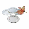 Plain Round Silverplated Tray Set 4pc