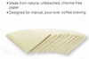 Pour-Over Disposable Coffee Filters #2 Size Unbleached 100/bx