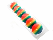 """Rainbow Dipped Floating Candles  2""""  (set of 6)"""