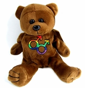 Rainbow Double Male Symbol Plush Bear