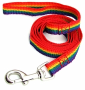 "Rainbow Leash Nylon 3/4"" wide x 6ft"
