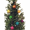 Rainbow Solid Colored Mirror Ball Ornaments Set   8pc
