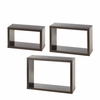 Rectangular Floating Wall Cubes  set of 3