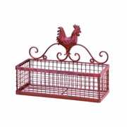 Red Rooster Wall Basket