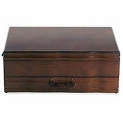 Reed & Barton Provincial Single Drawer Flatware Chest Mahogany  FREE SHIPPING