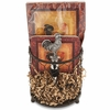 Rooster Wine Bottle Holder & Napkins Gift Set