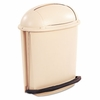Rubbermaid Fire-Safe Pedal Rolltop Oval Receptacle, Plastic, 14.5gal, Beige