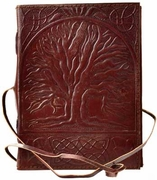 Sacred Oak Tree leather blank book w/ cord  5 x 7