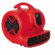 Sanitaire Commercial Three-Speed Air Mover, 1/2 hp Motor, Red/Black
