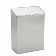 Sanitary Napkin Wall Mount  Receptacle, 8 x 4 x 11,  Stainless Steel