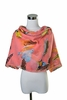 Scarf Polyester, Bird Paradise Design  Watermelon