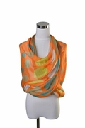 Scarf Polyester, Retro Dots Design   Orange