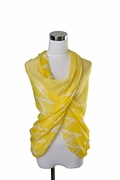 Scarf Polyester, Zig-Zag Design on Yellow