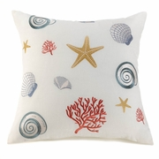 "Seaside Throw Pillow  20""sq."