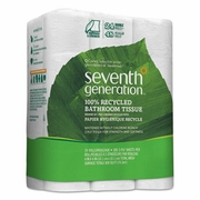 Seventh Generation 100% Recycled Bathroom Tissue, Two-Ply, White, 500 Sheets/Roll, 24 Rolls/Pack