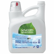 Seventh Generation Free And Clear Natural 2X Concentrate Laundry Liquid, Unscented, 150 oz. Bottle