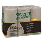 Seventh Generation Natural 100% Unbleached Recycled Paper Towels, 2-Ply, Brown, 6/PK, 4PKG/Cs
