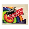 Shout® Wipe & Go Instant Stain Remover, 4.7 x 5.9, 80 Packets/Carton
