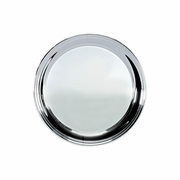 """Silver Plated Serving Tray Plain Center 12"""" Dia."""