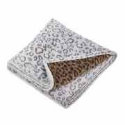 "Soft Leopard Blanket  Double Sided   67"" x 50"""