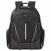 """Solo Active Laptop Backpack, 17.3"""", 12 1/2 x 6 x 18 3/4, Black"""