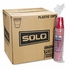 Solo Red Plastic Party Cold Cups, 16oz,   50/Bag, 20 Bags/Carton.