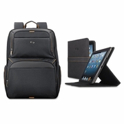 Solo Urban Backpack/Tablet Case Bundle,  Black/Orange