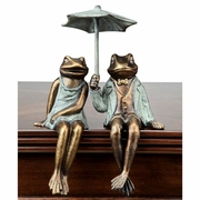 Sophisticated Frog Couple Shelf Sitters