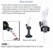 Sponti Catalyst Adjustable Wine Aerator Pourer  with Stand
