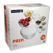 Stackable Glass Prep Bowl Set  10pc. (2-1/4 to 10-1/4)