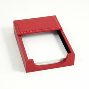 Stitched Red Leather Memo Holder