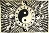 """Tapestry  White and Black Yin Yang 72"""" x 108"""""""