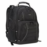 "Targus Drifter Plus with TSA Backpack, For 16"" Laptop. 13 3/4 x 8 1/8 x 17 3/4"