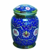 Tea Canister Porcelain  Blue