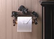 Toilet Paper Holder  Black Bear